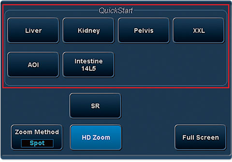 Quick start clinical settings